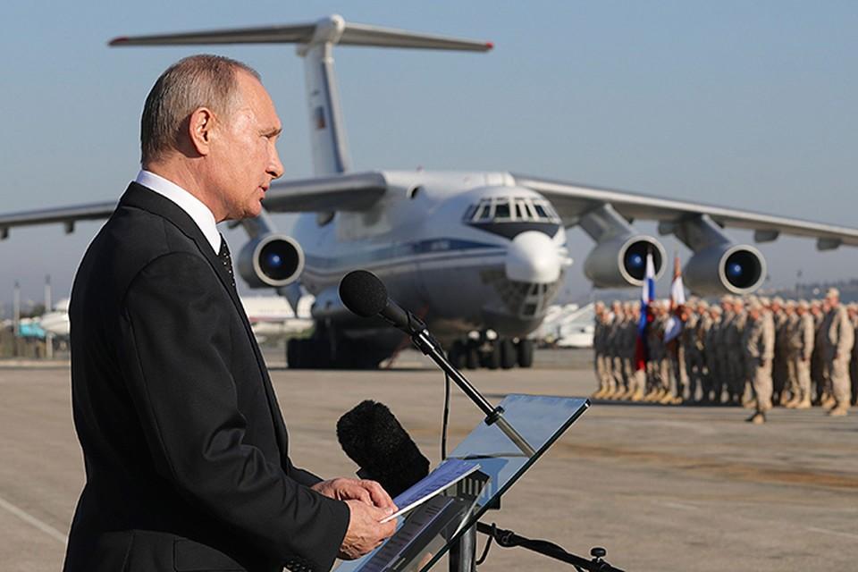 По дороге в Каир президент России прилетел в Сирию — на авиабазу Хмеймим