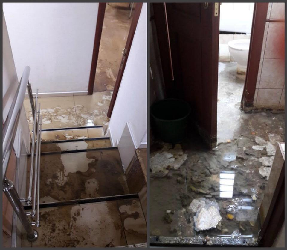 В офисе подмыт фундамент, кабинеты охвачены плесенью.