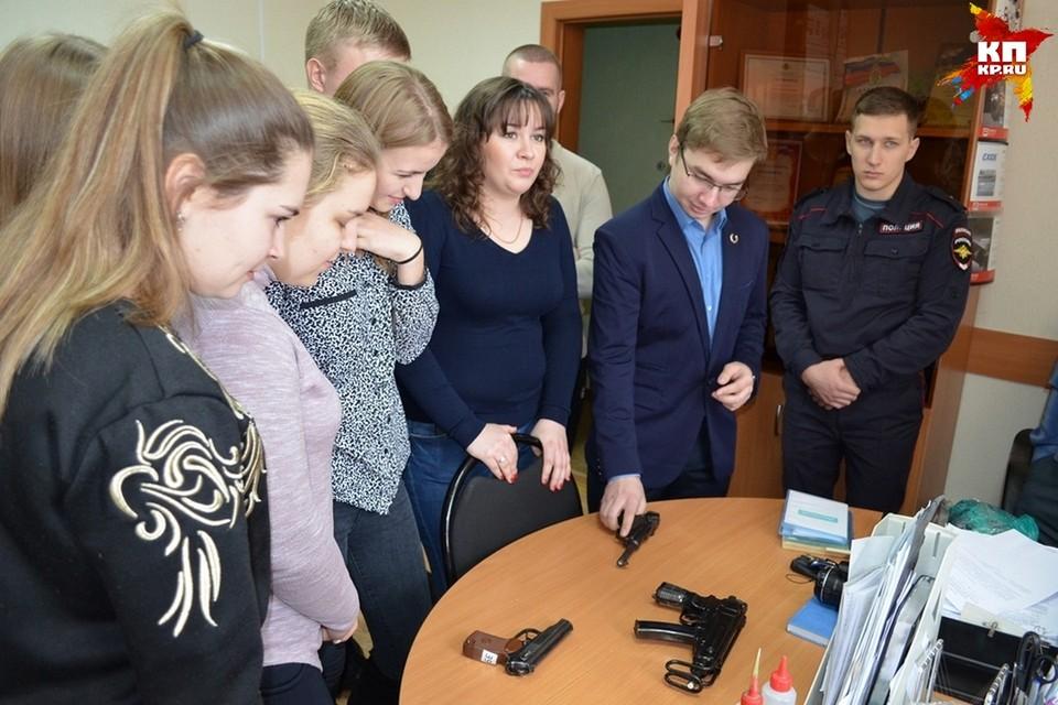 Липецкие студенты на экскурсии в УМВД