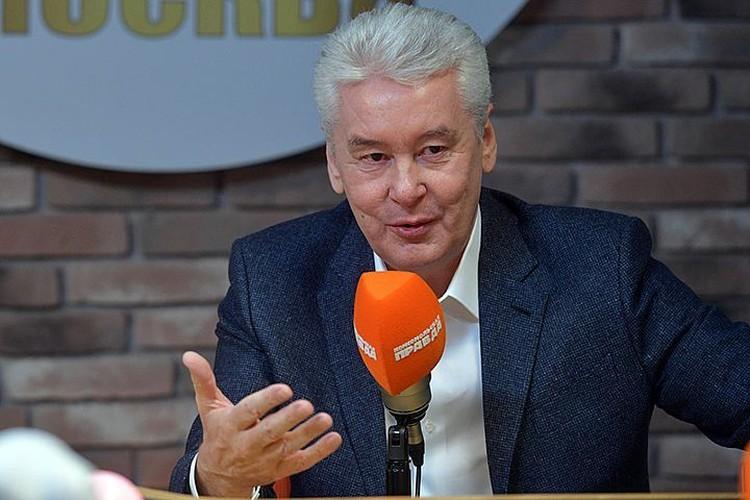 Сергей Собянин в эфире Радио «Комсомольская правда»