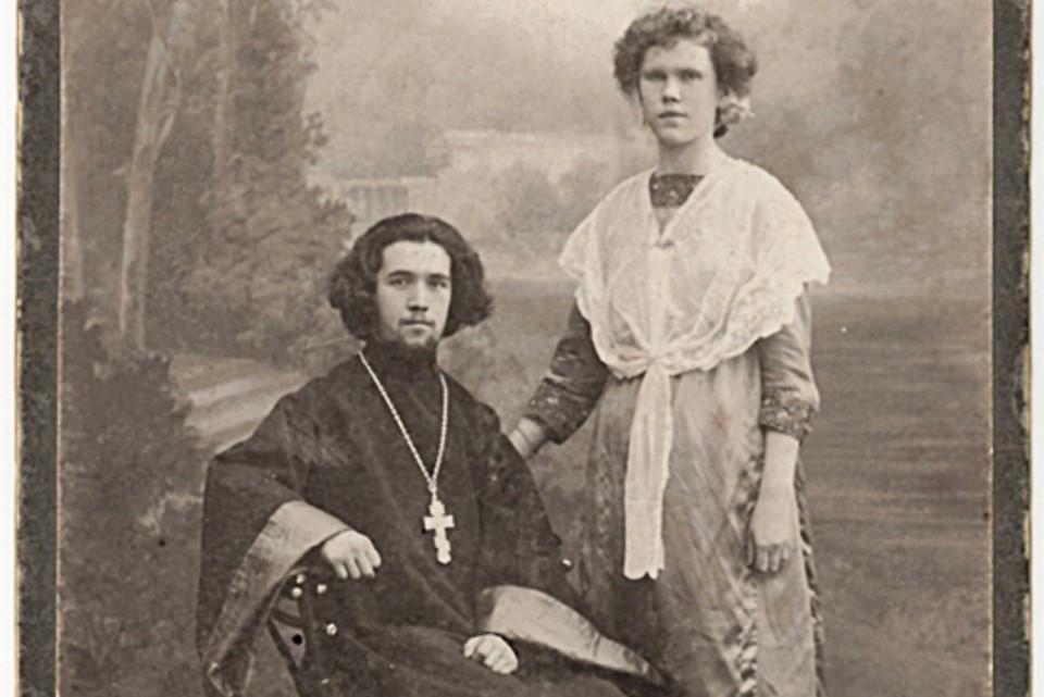 Священник Павел Аношкин и его супруга.