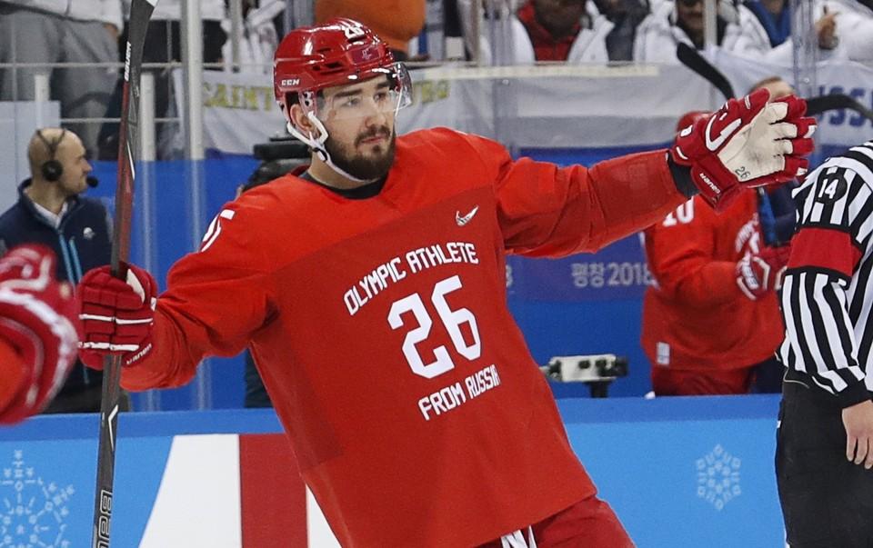 Вячеслав Войнов открыл счет в игре Россия - Германия.