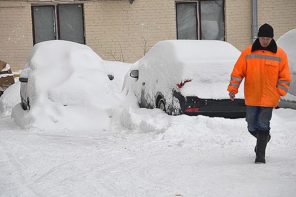 После недавнего супер-снегопада дольше всего снег лежал во дворах домов