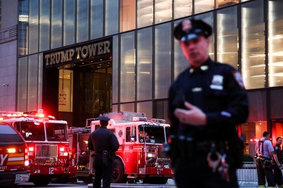 В небоскребе Trump Tower в Манхэттене тушат пожар