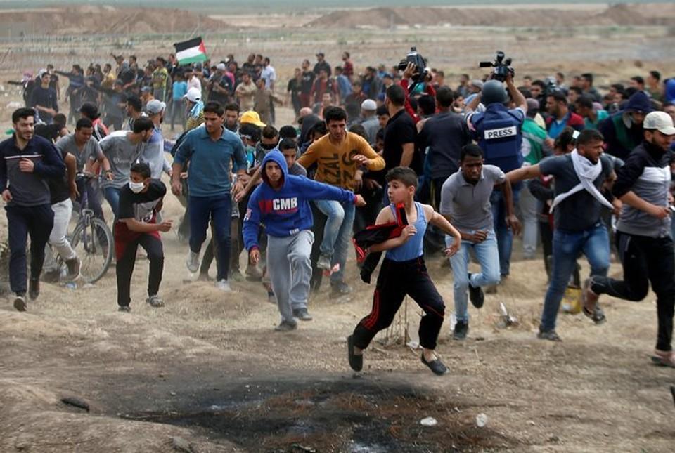 Израиль нанес авиаудары по объектам ХАМАС в ответ на протестные акции палестинцев