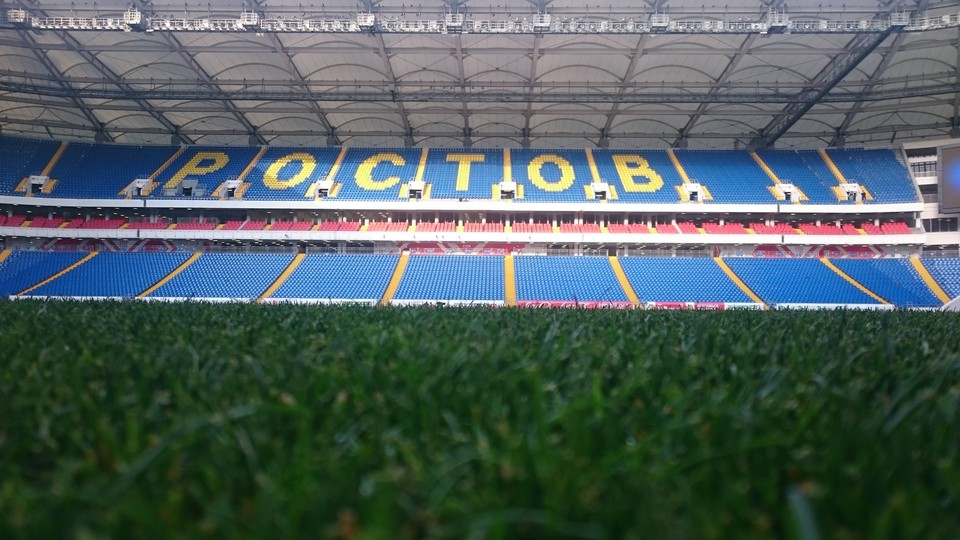 Специалисты ФИФА подтвердили, что поле стадиона - одно из лучших в России.
