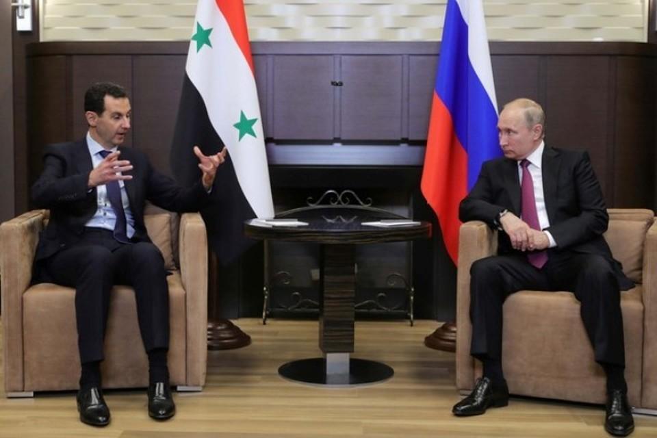 Президент России Владимир Путин в Сочи провел встречу со своим сирийским коллегой Башаром Асадом