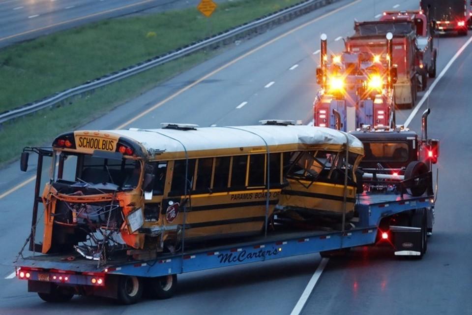 Школьные автобусы в США нередко попадают в крупные аварии