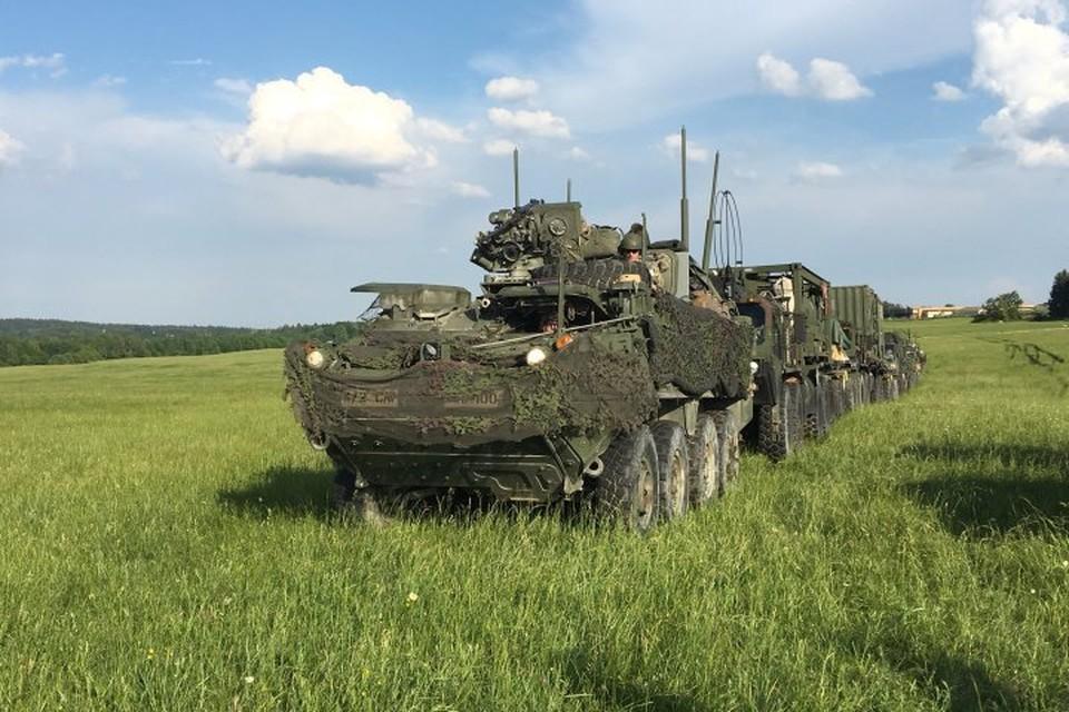 Американская техника в Польше, недалеко от границ с Калининградской областью.