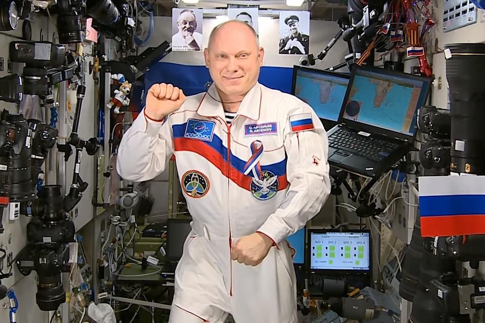 Российский космонавт Олег Артемьев