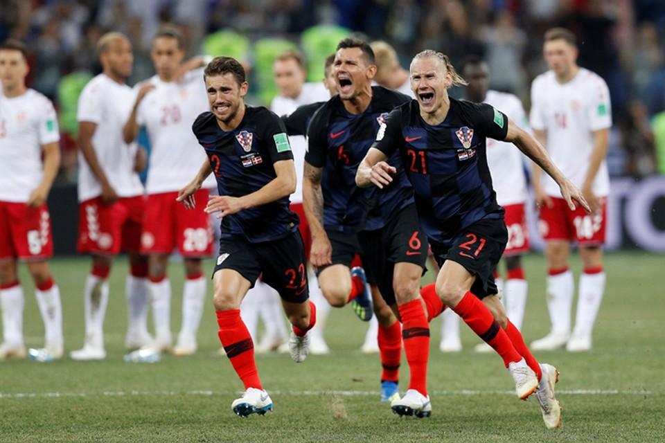 В матче с Данией хорваты победили после серии пенальти