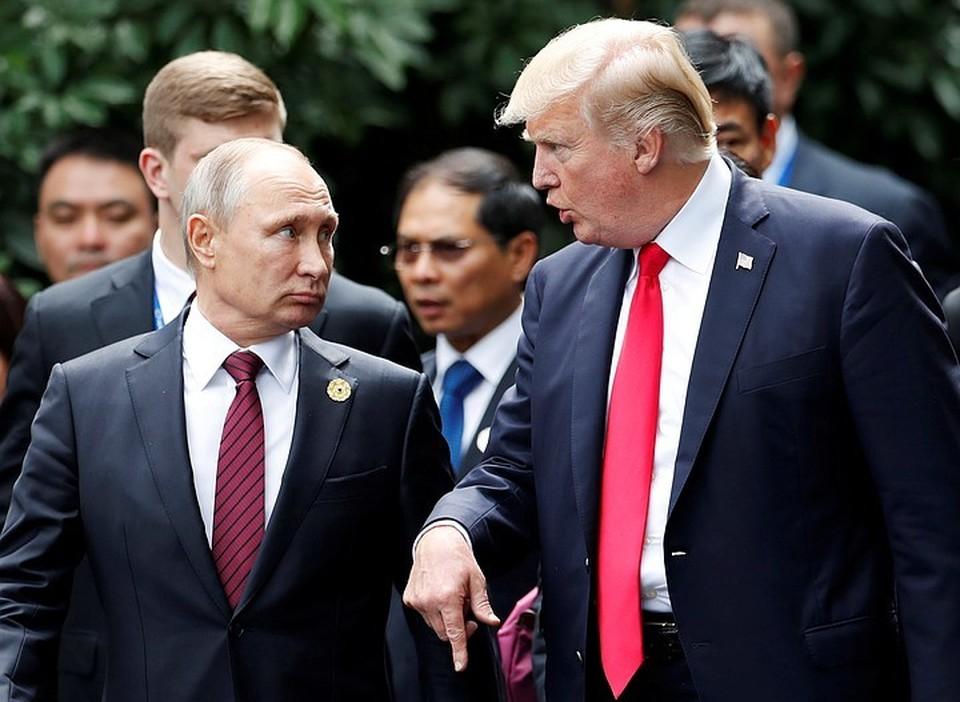 Президент США Дональд Трамп и российский лидер Владимир Путин