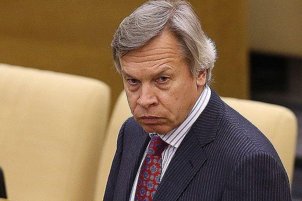 Председатель комиссии Совета Федерации по информационной политике Алексей Пушков. Фото: Артем Коротаев/ТАСС