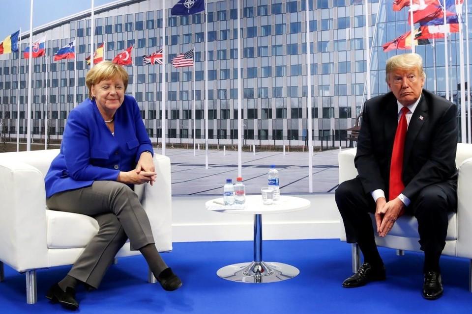 Дональд Трамп провел «успешные переговоры» с Ангелой Меркель на саммите НАТО в Брюсселе
