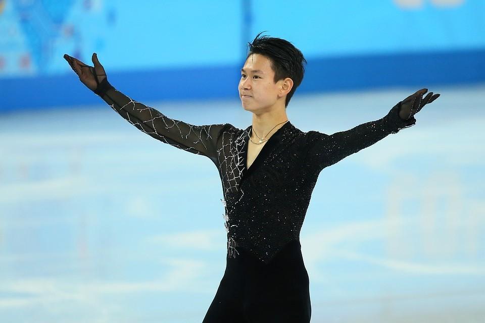 Казахстанский фигурист Денис Тен во время Олимпийских игр 2014 года