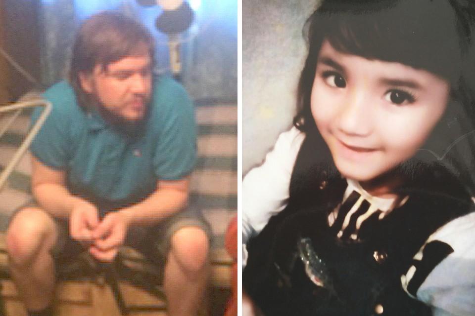 Подозреваемый в совершении убийства девочки Александр Семин и фото его жертвы.