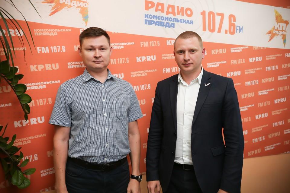 Андрей Демьянов, автоюрист и Евгений Сомов, активист Общероссийского народного фронта