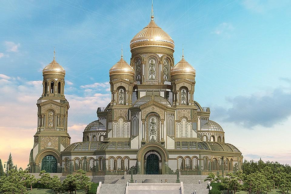 По данным Минобороны России строительство храма будет идти исключительно на добровольные пожертвования