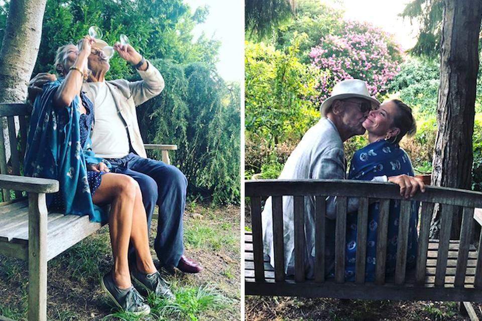 Андрей Кончаловский и Юлия Высоцкая романтично проводят отпуск в Греции. Фото: Инстаграм.