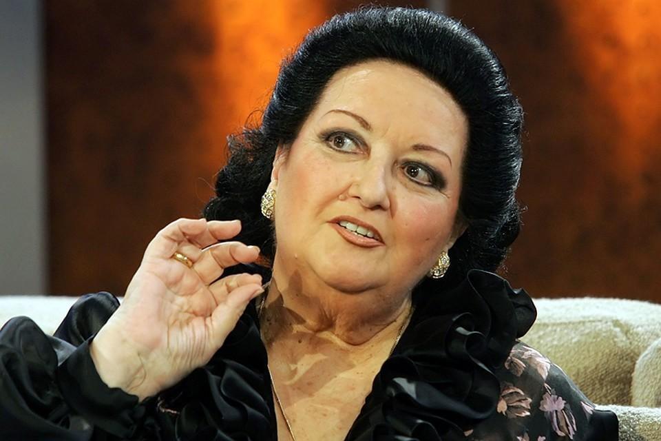 Испанская оперная певица Монсеррат Кабалье