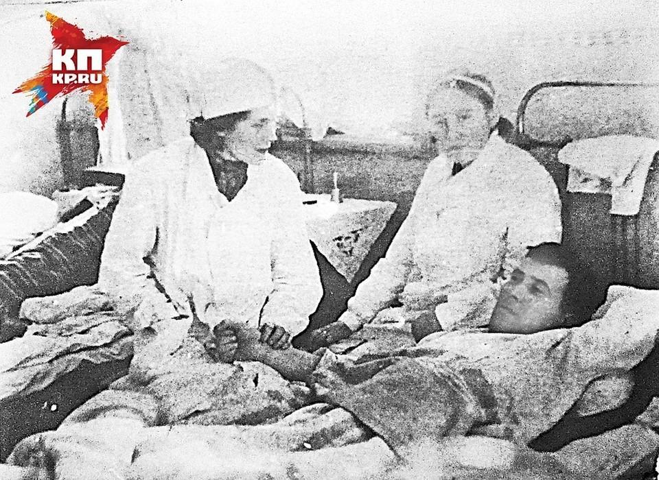 Владимир Стрельников с госпитале Самарканда.