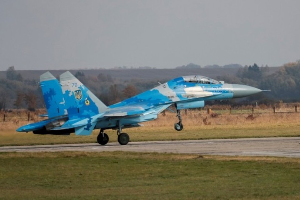 Украинский истребитель СУ-27УБ разбился во время совместных с НАТО учений «Чистое небо»