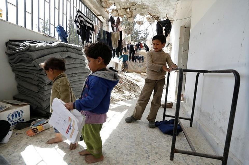 В лагере беженцев провели медицинский осмотр