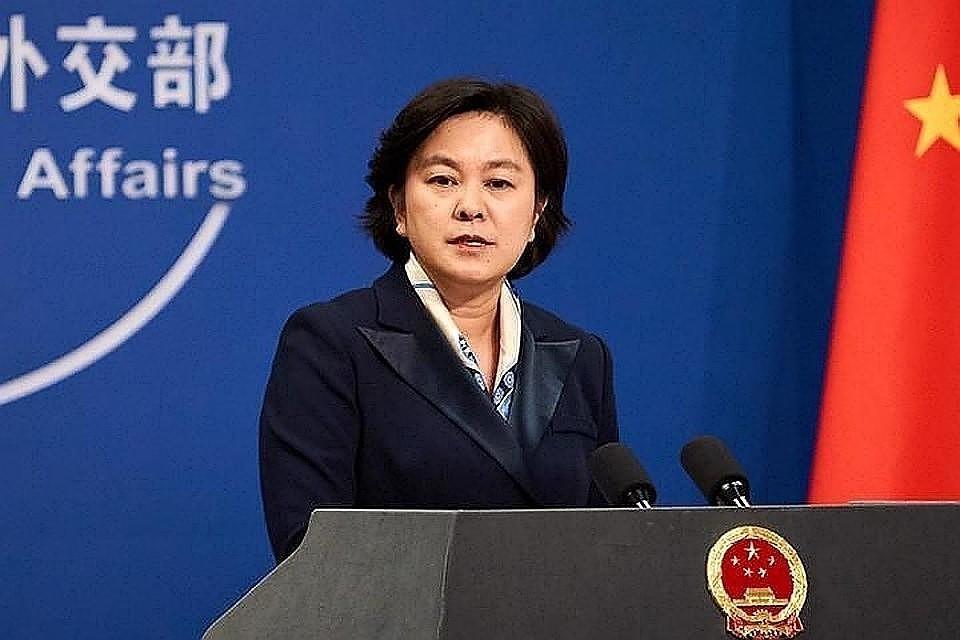 Представитель МИД КНР Хуа Чуньин. Фото: ТАСС/Артем Иванов.