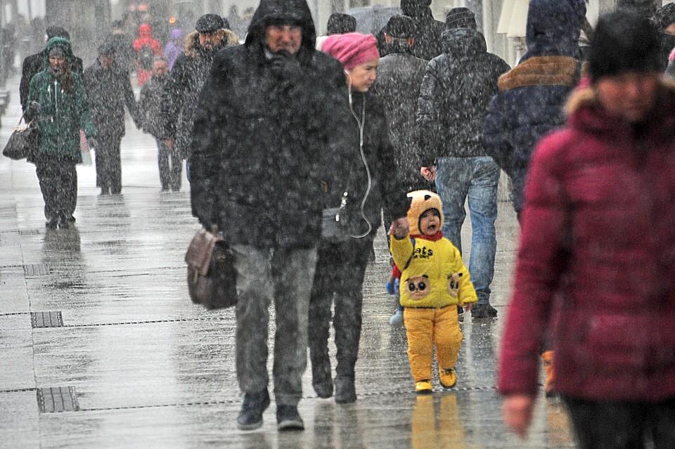 В Москве ожидается мокрый снег