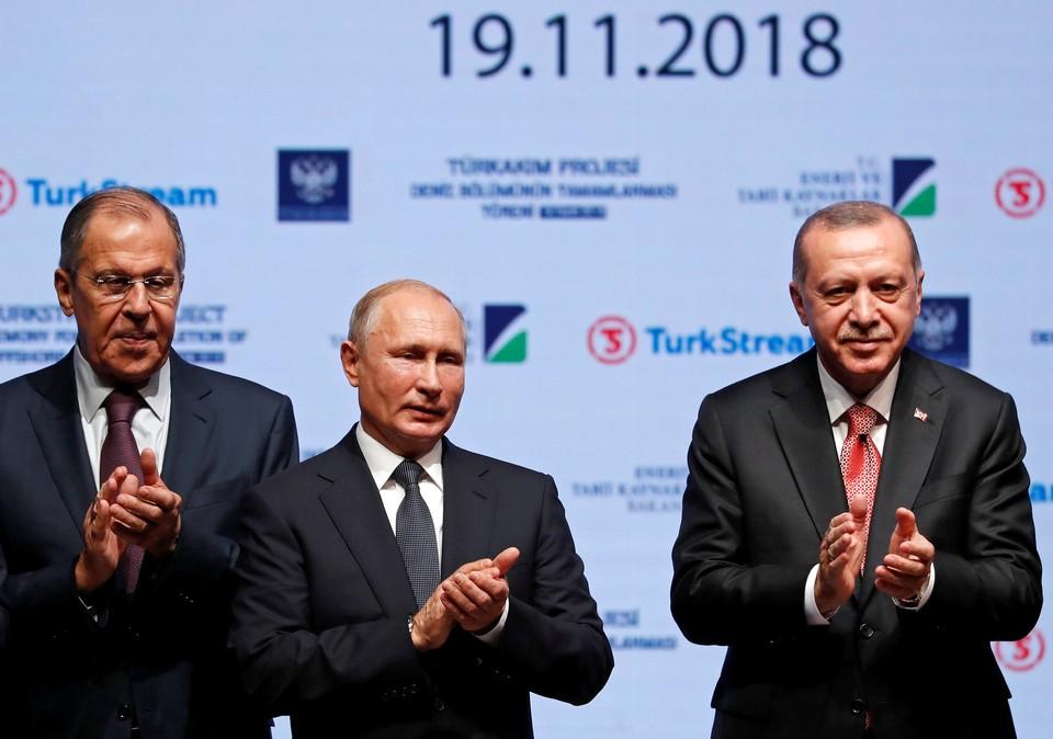 """Владимир Путин посетил церемонию открытия """"Турецкого потока"""""""