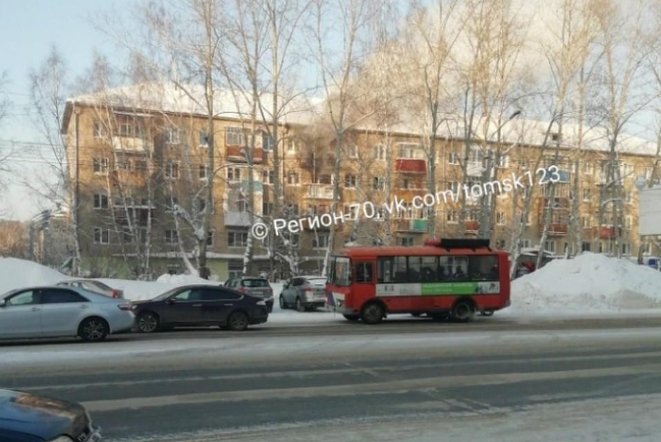 Из-за пожара в Томске эвакуировали 10 человек 1d077bd9964