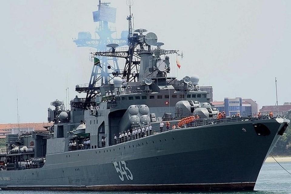 Большой противолодочный корабль «Адмирал Пантелеев». Фото: штаб ТОФ России