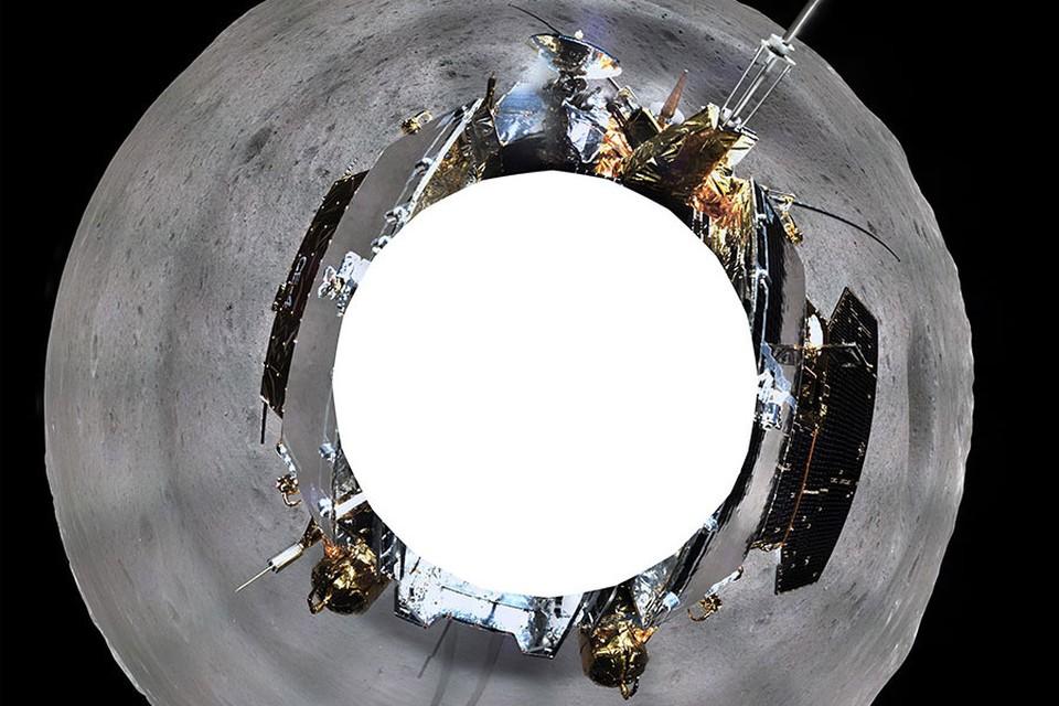 """Снимок был передан на Землю при помощи спутника-ретранслятора """"Цюэцяо"""". Фото: China National Space Administration"""