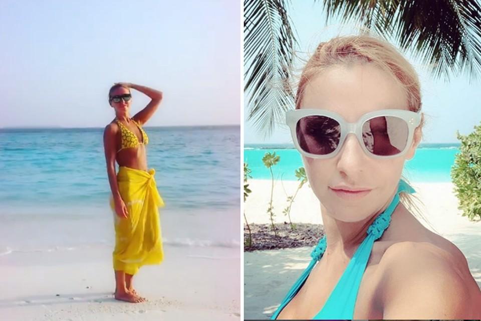 Татьяна Навка отдыхает на Мальдивах. Фото: Инстаграм.