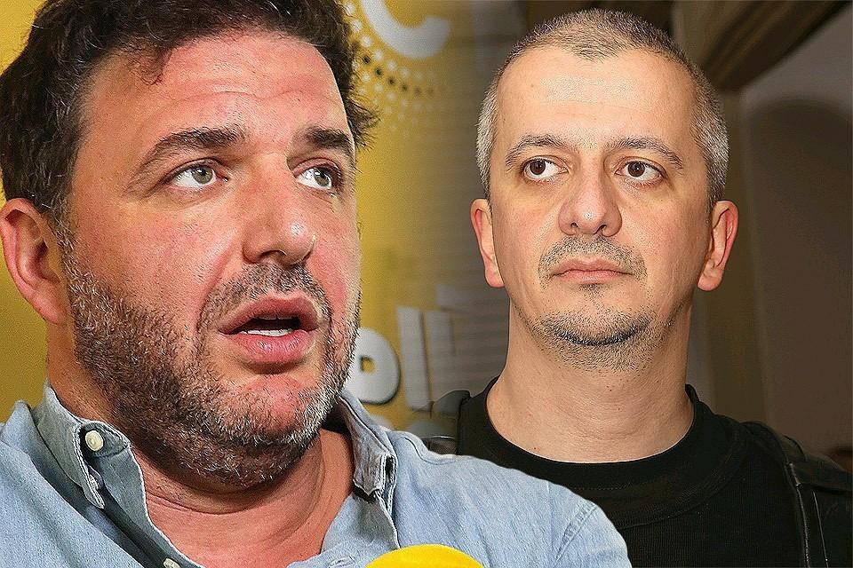 Конфликт в кафе Максима Виторгана (слева) и Константина Богомолова обернулся рукоприкладством