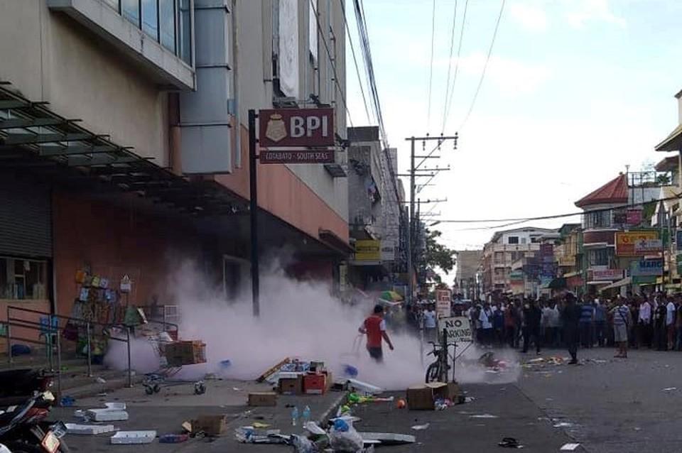 На Филиппинах снова прогрел взрыв