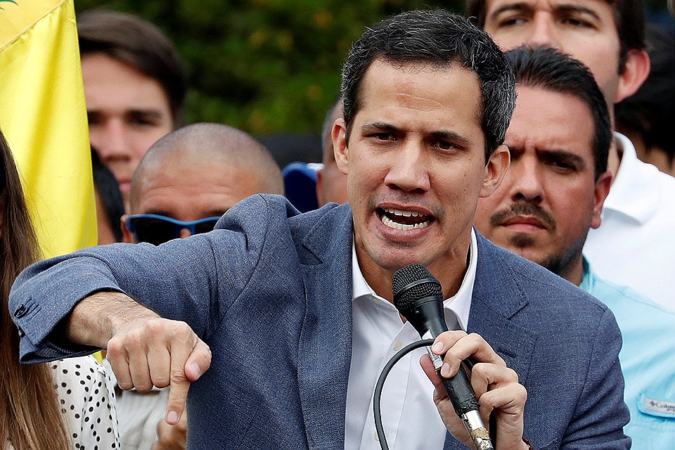 Лидер оппозиции Венесуэлы Хуан Гуаидо.