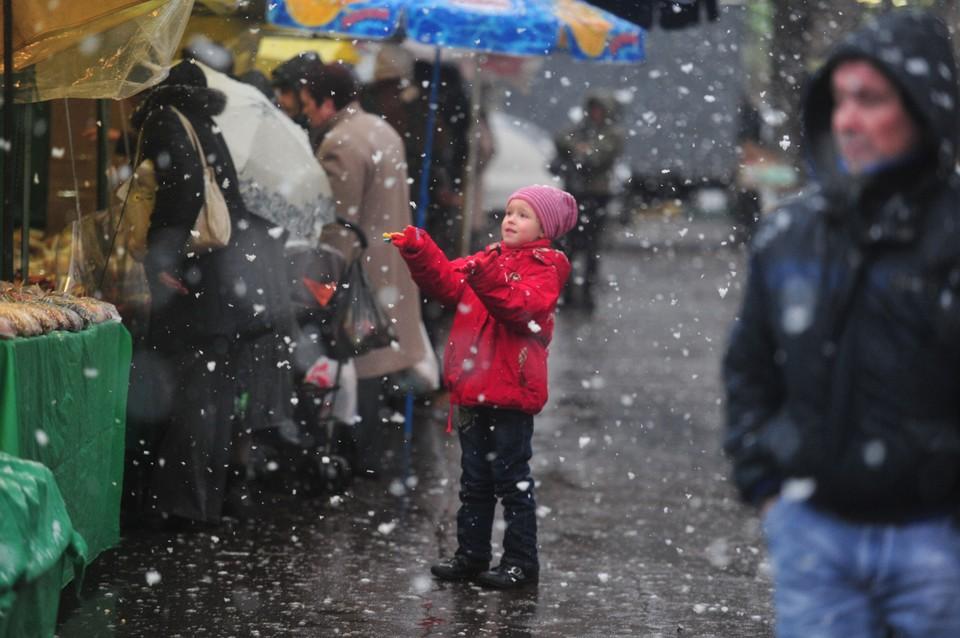 В столице ожидается небольшой снег