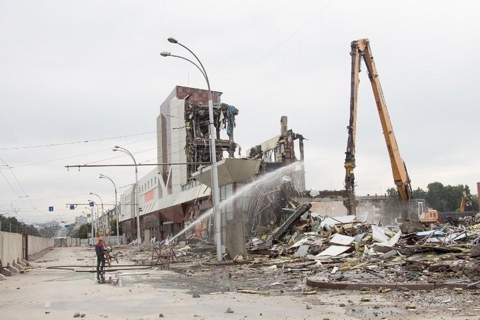 """Здание """"Зимней вишни"""" снесли в августе прошлого года. На его месте будет парк"""