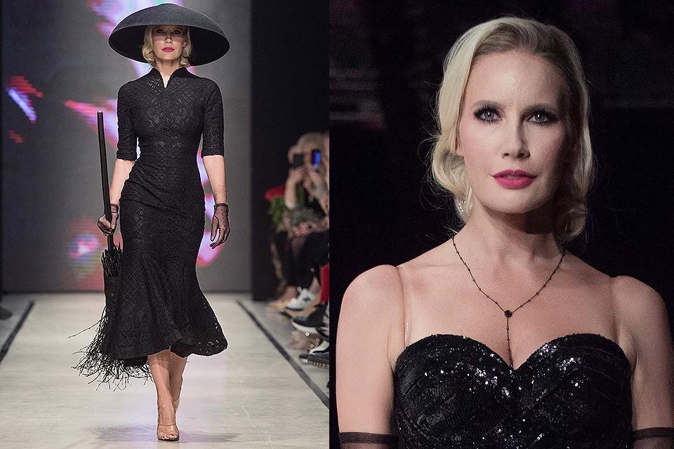 Елена Летучая во время показа на Mercedes-Benz Fashion Week Russia.