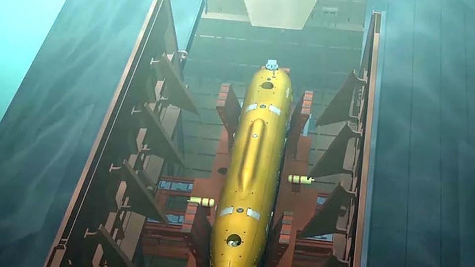 """Беспилотный подводный аппарат с ядерным зарядом """"Посейдон"""". Фото: Минобороны РФ"""
