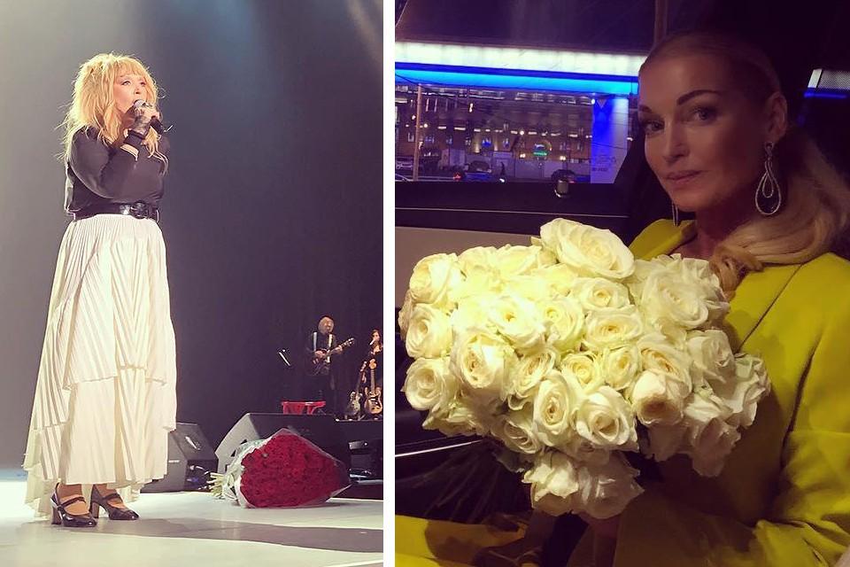 Анастасия Волочкова и её букет для Примадонны.