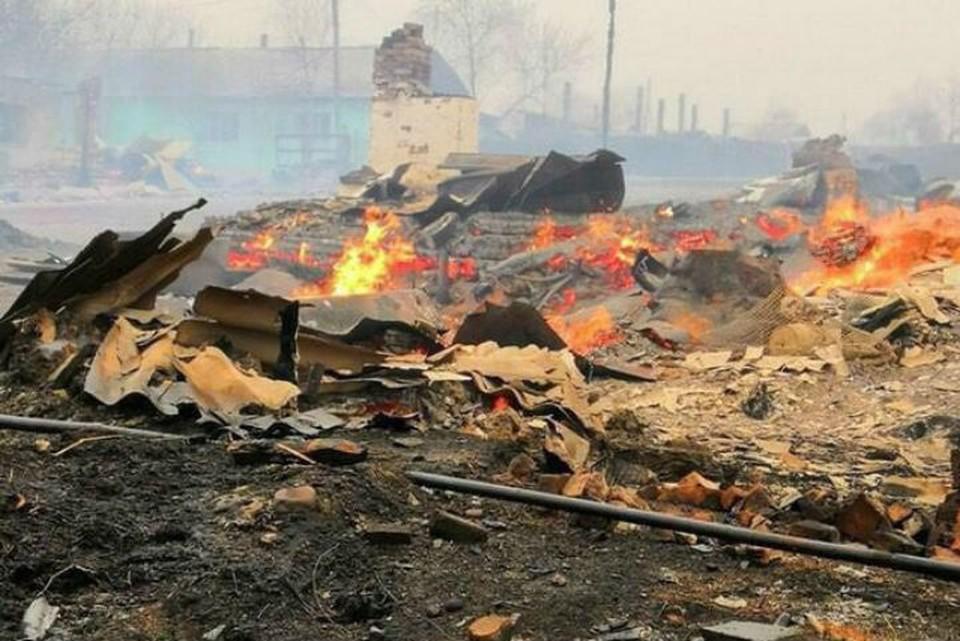 Природные пожары в Забайкалье: дома потеряли почти 300 человек. Фото: соцсети