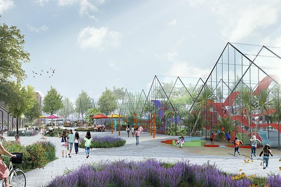 Проект превращения оранжерей Таврического сада в общественное пространство обсудили на заседании в Смольном Фото: Предоставлено авторами концепции