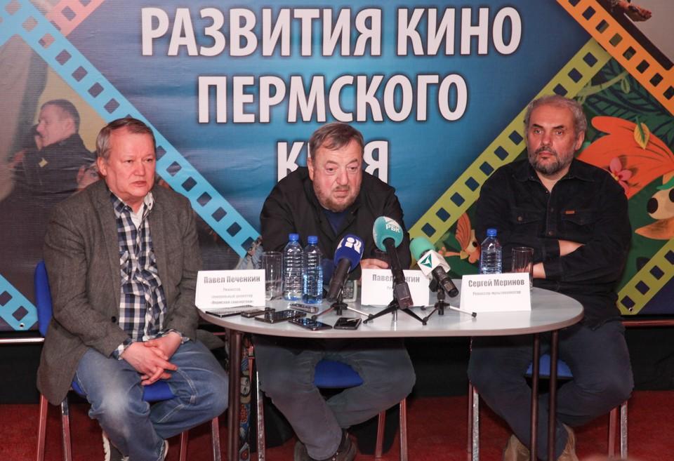 Слева направо: Павел Печенкин, Павел Лунгин, Сергей Меринов.