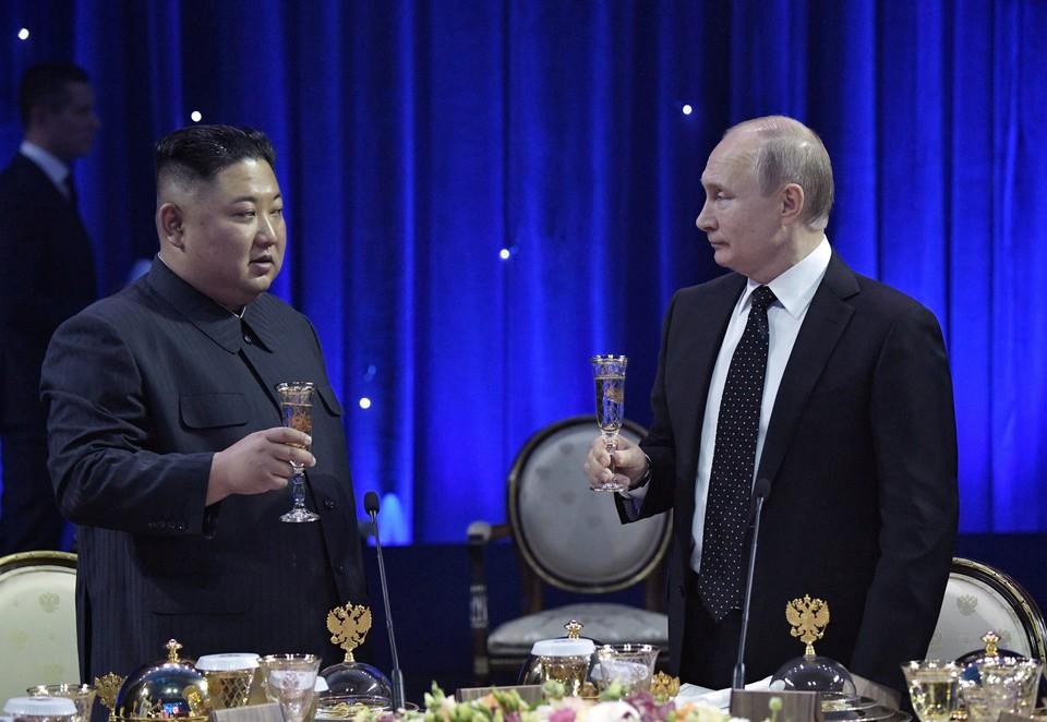 Путин устроил прием в честь своего северокорейского коллеги