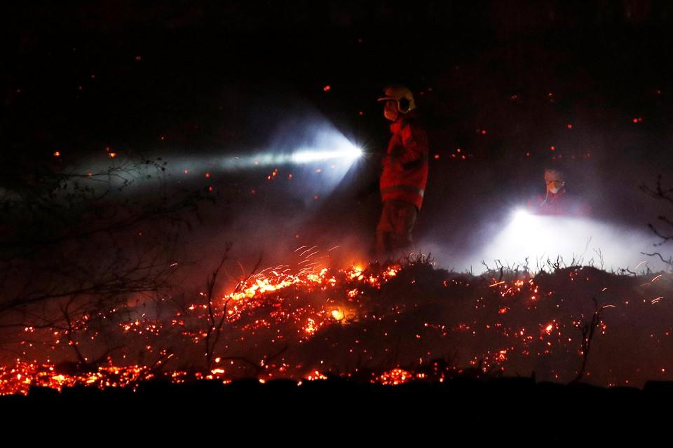 На месте работают 6 пожарных машин