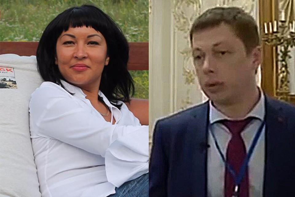 Мария Бескостная и Александр Заболоцкий. Фото: соцсети и телеканал Енисей