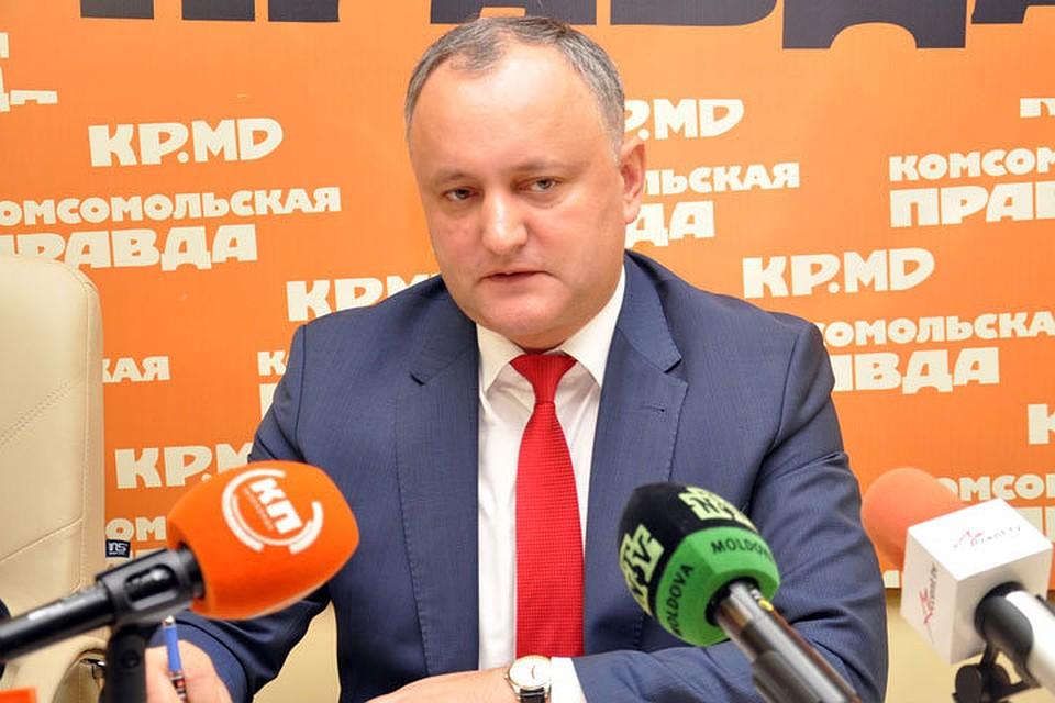 Президент Молдовы - «КП»: Мы не можем действовать, как Плахотнюк, арестовывая всех подряд, отвечать будут только по закону!