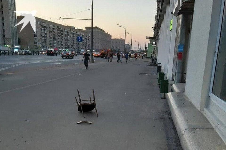 Тот самый стул, который приземлился на голову сотрудницы парикмахерской в Москве